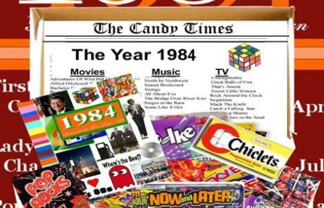 1984 30th Birthday Gift Basket Box Retro Nostalgic Candy From Childhood